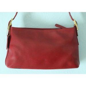 Vintage COACH Legacy F23-9861 Red Shoulder Bag